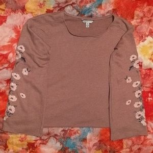 AEO Floral Long sleeve Top XXS